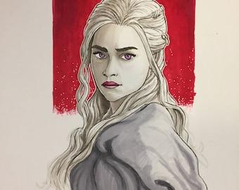 Daerys Targaryen illustration by Sergio Azevedo