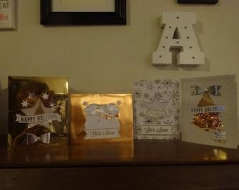Glitter Snowglobe Greeting Cards