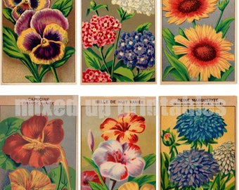 Mixed Up Printables - Flower Seed Packets Ephemera #1