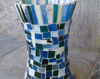 Blue Glass Mosaic Base