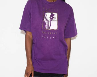 Egyptian, Pharaoh, 90s Clothes, Dallas, 90s Tshirt, Egypt, Egypt T Shirt, Egyptian God, Ancient Egypt, King Tut, Purple, Vintage Tshirt