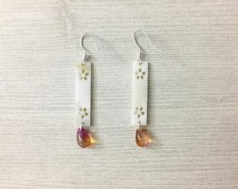 Teardrop Earrings, Glass Jewelry, Glass Bead Earrings, Blue Drop Earrings, Beaded Earrings, Green Drop Earrings, Gift For Her, Small Drop