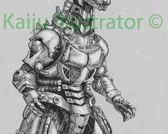 kiryu mecha godzilla original drawing - Godzilla Pictures To Print