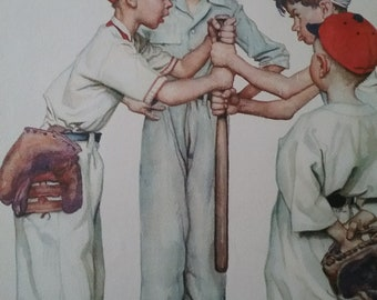 Vintage Choosin Up Norman Rockwell 13 x 11  Poster