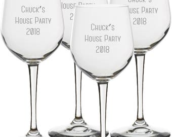 48 Personalized Event Wine Glasses, Personalized Wine Glasses, Bulk Wine Glasses, Wine Stems