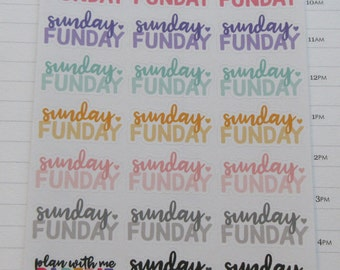 Sunday FunDay Script Planner Stickers