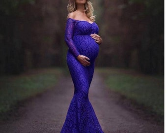 Lace Maternity Gown