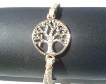 Tree of life gold adjustable bracelet.