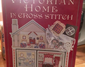 Victorian cross stitch pattern book, vintage cross stitch, vintage needlepoint, vintage pattern book, vintage sewing, sewing pattern