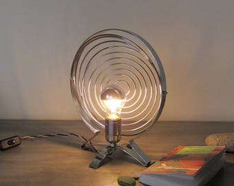 spiral lamp metal creation upcycled industrial table lamp