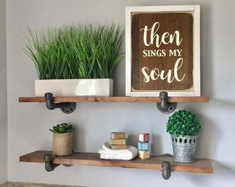 Then Sings My Soul - Wood Sign
