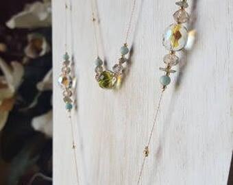 Pink Silk Thread Necklace