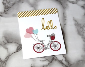Cute Love Gold Foil Blank Card, Boho Theme Postcard, Birthday Card, Date Gifts, Sweet 16 Birthday, Back To School Gifts, Valentines Day Card