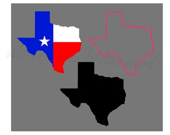 Texas State SVG & Studio 3 Cut File Stencil and Decal Files Logo for Silhouette Cricut SVGS Cutouts Decals Flag Outline Map Cutting