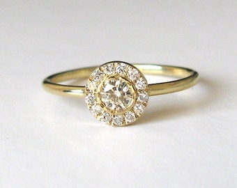 Halo Engagement Ring Diamond, Wedding Ring Unique Engagement, Round Diamond Ring, Diamond Halo Ring, Unique Engagement Ring, Promise Ring