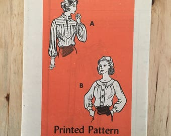 """Vintage mail order sewing pattern 4517 two different blouses with 3 sleeve options Size 12 Bust 34"""""""