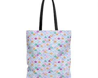 Mermaid Tote Bag, Mermaid Bag, Tote Bag, Mermaid, Mermaid Tote, Mermaid Gift, Beach Bag, Tote, Bag, Gift For Her, Cotton Tote Bag Beach Tote