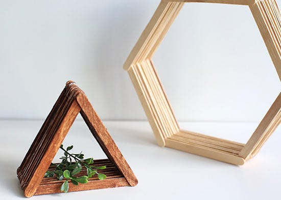 Triangle - Popsicle Stick Shelf [E10231018401620668M] - $15.00 ...
