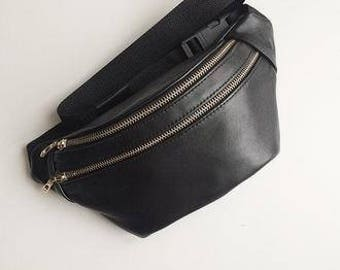 Leather fanny pack for Women belt bag  waist bag leather bag handmade leather belt bag  women waist bag bum bag leather waist bag Hip Pouch
