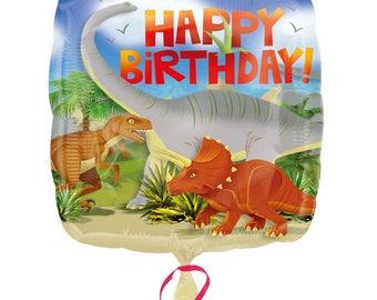 Happy Birthday Dinosaur  Standard Foil Balloon