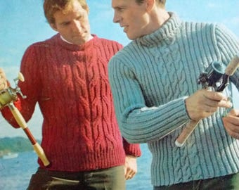 Columbia Minerva : Hand knits for Men, Book #763, Vintage