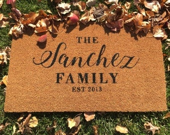 Personalized Last Name Doormat