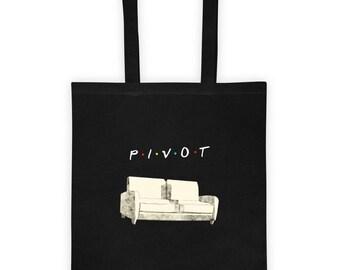 Pivot Friends Tote Bag - Friends Pivot Tote Bag - Pivot Couch Tote - Comfy Friends Show Tote - TV Show Quote