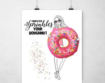 Sprinkle your Donuts Print - Pink - Girl