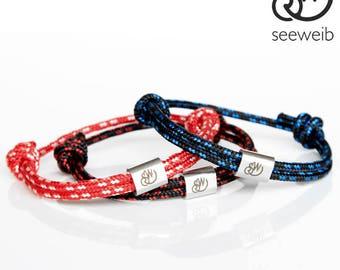Bracelet Pack, Friendship bracelet, couple bracelet, bracelet homme, bracelet femme, Paar Armbänder, Segeltau Armband, Partner Armband