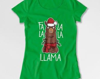 Funny Christmas TShirt Holiday T Shirt Llama Shirt Xmas Present Christmas Humor Xmas Clothing Holiday Clothes Happy Holdiays X-Mas TEP-546