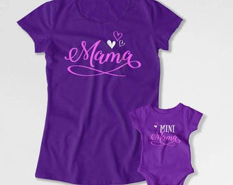 Mom And Daughter Shirt Matching Outfits Mother Son Gift Mothers Day T Shirt Mommy And Me Clothing Family TShirts Mama And Mini TEP-198-197