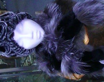 Fur Hat  made with Rex Rabbit Fur