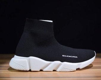 BALENCIAGA Speed Trainer Shoes - BLACK/WHITE