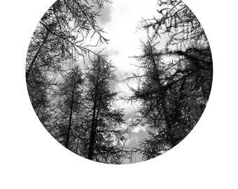 Trittico di Montagna, Foto Paesaggio Bianco e nero Montagna - Mountain Tryptich, Black and White Nature Landscape - Digital Print 20x30cm