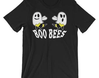 Boo Bees UNIXSEX Shirt Halloween Ghost Bee Here for the Boos T-Shirt