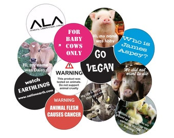 SOLD OUT - Vegan Stickers (24): Assortment Pack