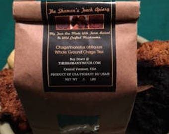 0.5 lb Bag Whole Ground Chaga Mushroom Tea