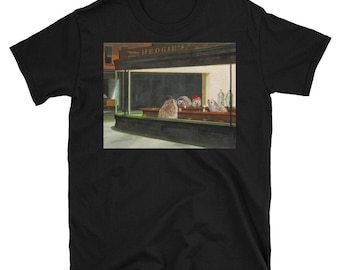 Hedgehog Shirt: Edward Hopper's Nighthogs Funny Art Shirt