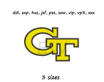 Applique design - Georgia T - instant DOWNLOAD digital file for embroidery machines