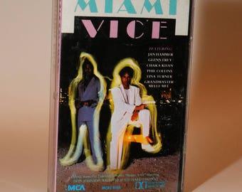 MIAMI VICE Tape (1985) Soundtrack Don Johnson Philip Michael Thomas Ferrari Testarossa Daytona 1980s Jan Hammer