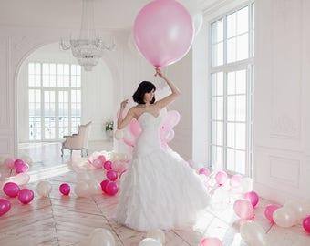 "Giant Pink Balloon - 36"" Pink Balloon - Wedding Balloon - Bridal Shower Giant Balloon"