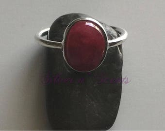 Sterling Silver Ruby Stack Ring