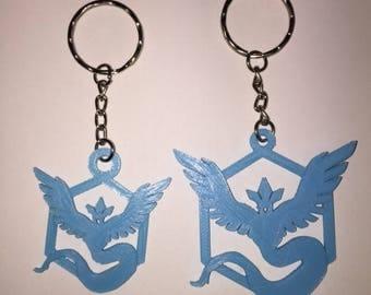 Pokemon Go Team Mystic Keyring - 3D Printed, Gift for Him or Her