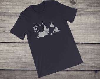 why not? earth world map turned around 180 T-Shirt men women Short-Sleeve Unisex T-Shirt tshirt tee