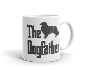 The Dogfather mug, Collie mug, Border Collie mug, funny dog gift mug, The Godfather parody, dog lover mug, dog gift