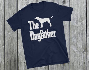 The Dogfather t-shirt, Dalmatian silhouette, funny dog gift, The Godfather parody, dog lover shirt, dog gift, Short-Sleeve Unisex T-Shirt