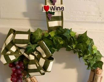 Wine Lovers Wreath, Wine Cork Wreath