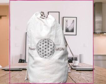 Cotton Duffel bag/travel bag, Flower of life