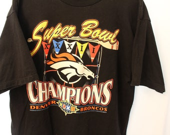 Vintage 1997s Logo 7 Broncos Superbowl 32 Champions Tee - XL