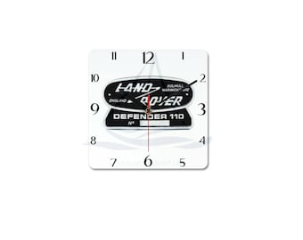 Land Rover Defender 110 Badge Clock, Novelty, Defender, Truck, Defender Gift, Cars, Defender, Land Rover 90, Land Rover 110, Land Rover 130